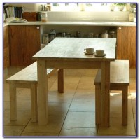 Wooden Kitchen Table With Bench - Kitchen : Home Design ...