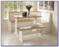 Kitchen Table With Corner Storage Bench