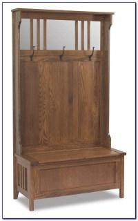 Entryway Bench Seat With Hat Coat Rack Storage Shoe Shelf ...
