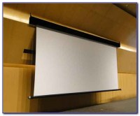 Hanging Fixed Projector Screen From Ceiling - Ceiling ...