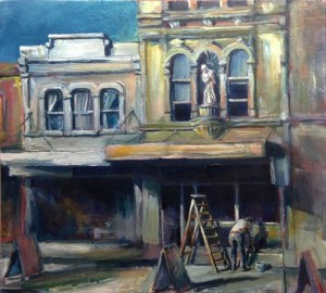 George Street (55w x 51h cm) - $1400