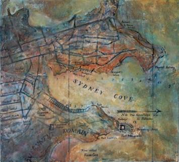 Sydney Cove 1836 (65w x 60h cm) - $1800