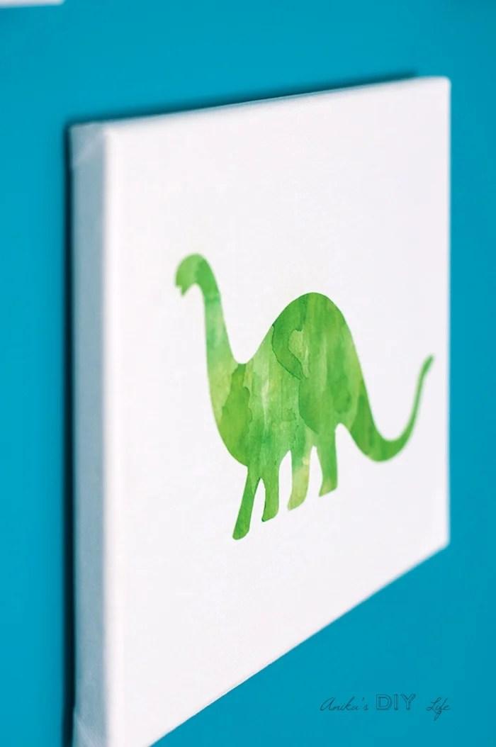Canvas Craft Idea - Turn any Printable into Canvas Art - Anika\u0027s DIY