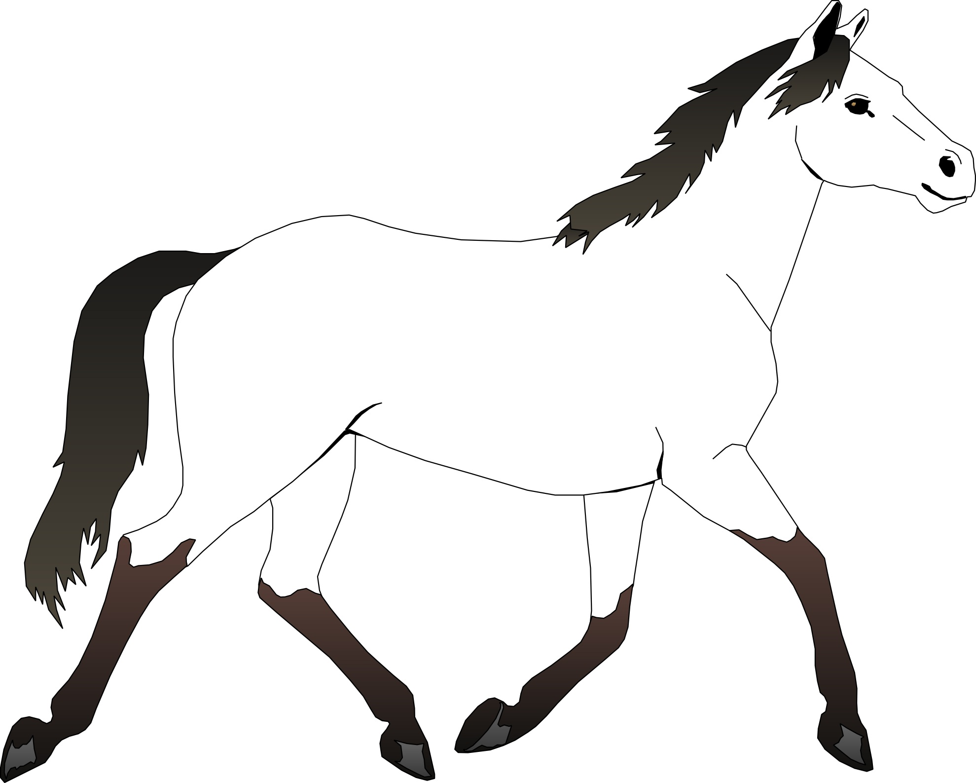 pictures horses coloring pages download