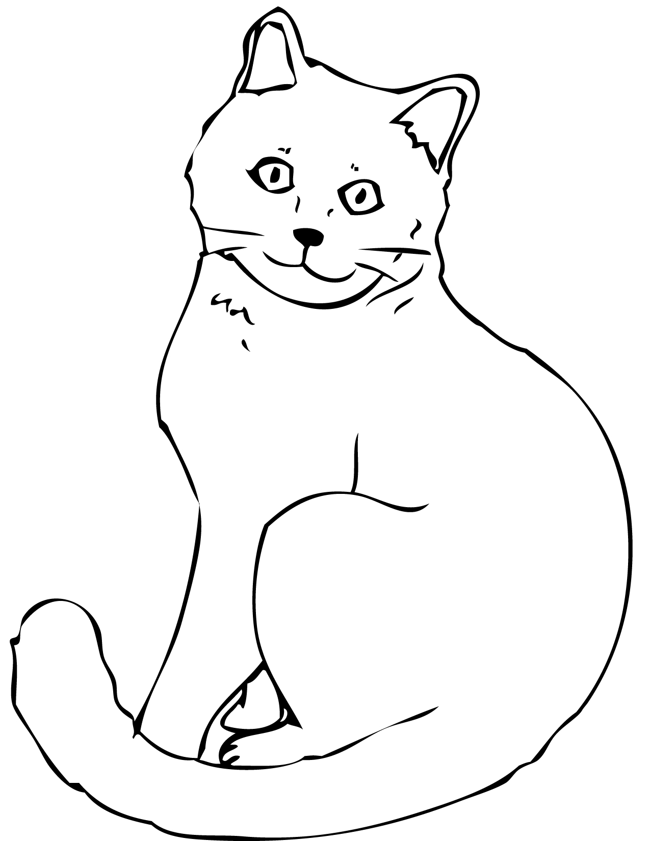 cat coloring pages printable mother cat and kittens coloring cat