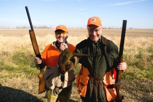 Dick Cheney on hunt (foreground.)