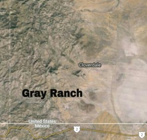 Satellite view of the Gray Ranch, now owned by the Animas Foundation, worked as the Diamond A Ranch.