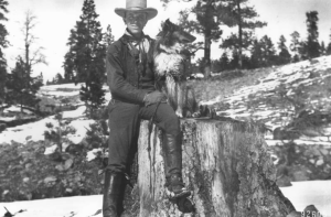 Aldo Leopold as a young U.S. Forest Service employee.