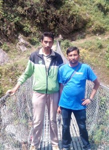 "Nepal Animal Welfare & Research Center founder G.P. ""Uttam"" Dahal (left) and Himalayan Animal Rescue Trust veterinary technician Narayan Dhakal."