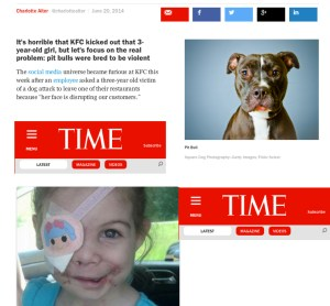 TIME magazine featured our research in June 2014.
