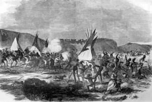 Engraving of Whitestone Massacre.