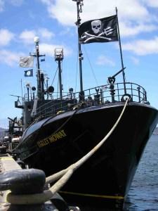 The original Sea Shepherd vessel Farley Mowat.  (Sea Shepherd Conservation Society photo)