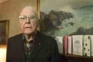 Samuel Leonard at age 100. (Cornell University photo)