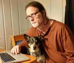 Merritt Clifton & copy editor.   (Beth Clifton photo)