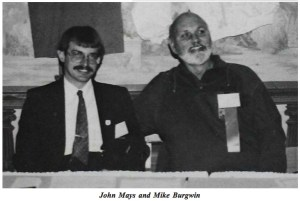 Johnny Mays & Mike Burgwin at their first meeting in 1986. (NACA photo)