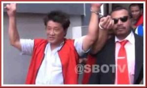 Local TV news coverage of Singky Soewadji's arrest.