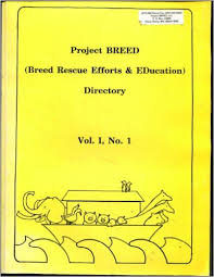 The first Project Breed directory.