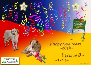 Holiday card from the VAFA shelter in Iran.