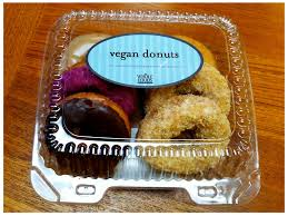 Vegan doughnuts, favorite snack of the vegan police.