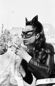 "Earth Kitt, the original ""Catwoman"" on screen, did cat adoption promotion for the North Shore Animal League."