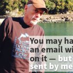 "Ric O'Barry:  ""You may have received an e-mail with my name on it,  but it was not sent by me"""