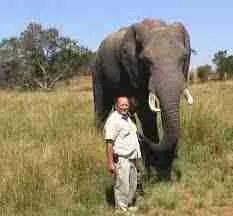 Johnny Rodrigues & elephant (ZCTF photo)