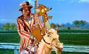 """Hunt sab/fox rescue scene from """"Mary Poppins,"""" 1964."""