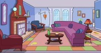 Stage set, Cartoon and Living rooms on Pinterest