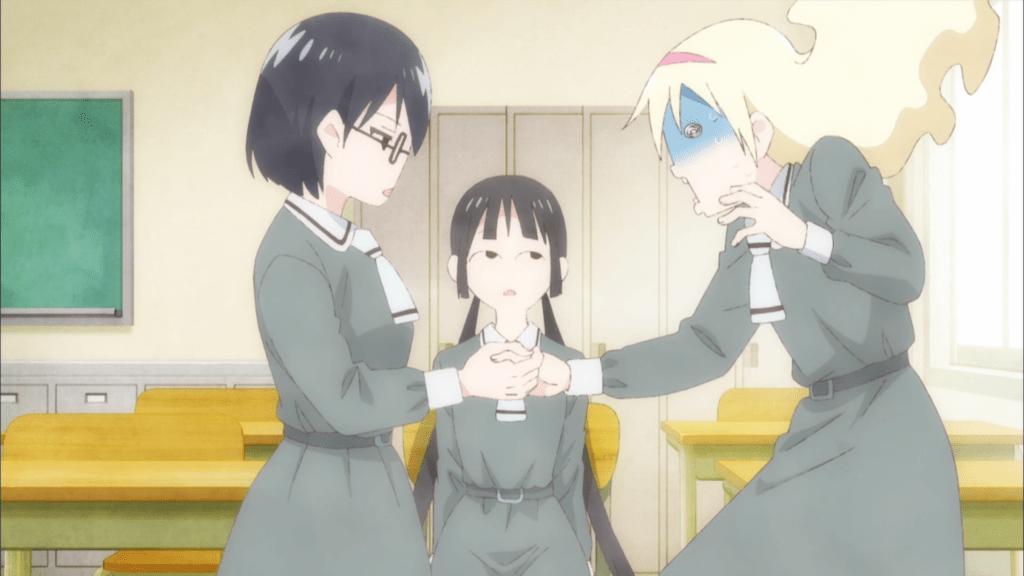 Blue Hair Cat Girl Wallpaper Review Asobi Asobase Episode 1 Anime Feminist