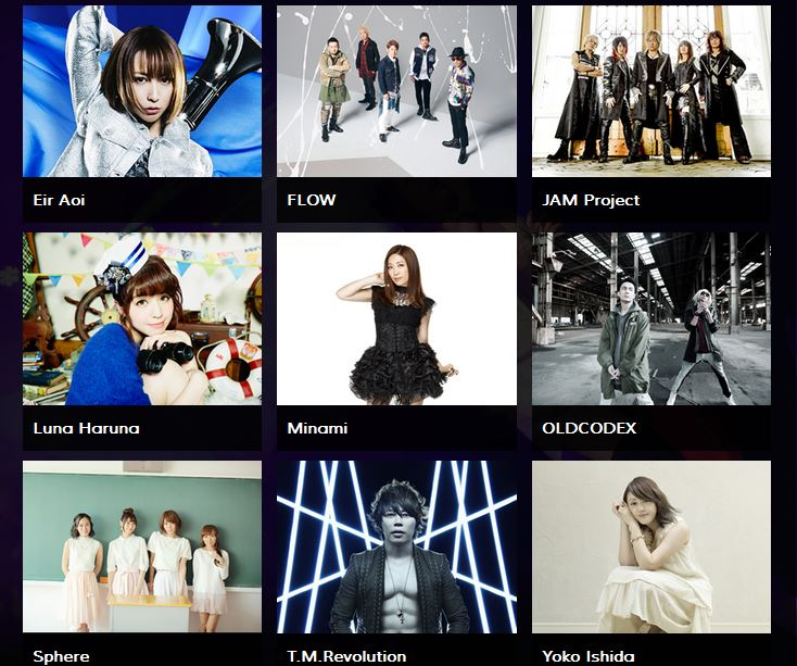 Anisong Matsuri At Anime Expo 2016 Features Concerts By Sphere JAM Project And TM Revolution