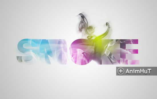 Beautiful Designs with Smoke Typography
