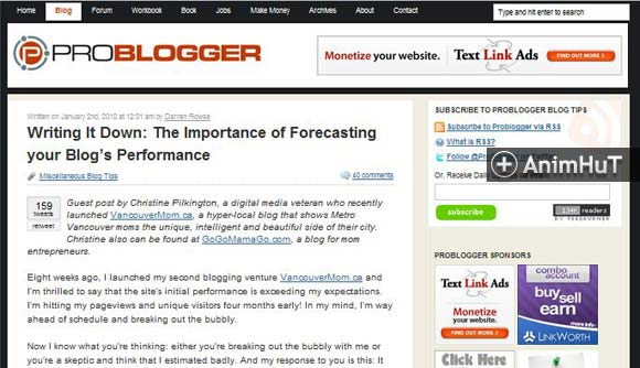 The Importance of Forecasting your Blog's Performance