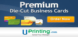 Giveaway 500 Die-Cut Business Cards from Uprinting