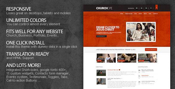 10 Epic Church WordPress Premium Theme for Download