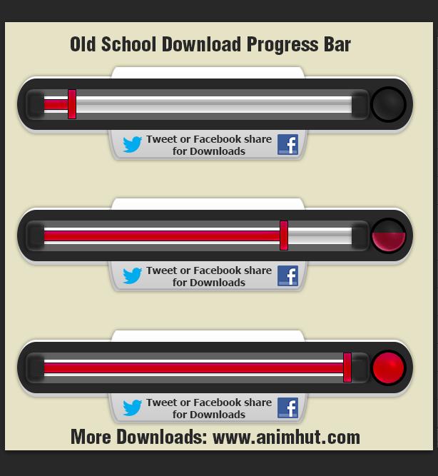 Photoshop CS6 Freebie: Old School Download Bar
