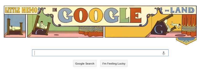Today's Google Doodle: American Cartoonist Winsor Zenic McCay