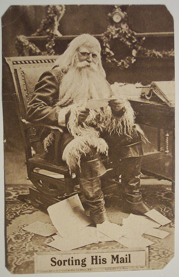 Christmas Santa Postcards and Vintage Illustrations