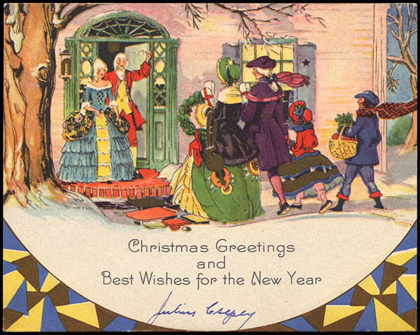 Antique Christmas Santa Postcards  and Vintage Illustrations (2)