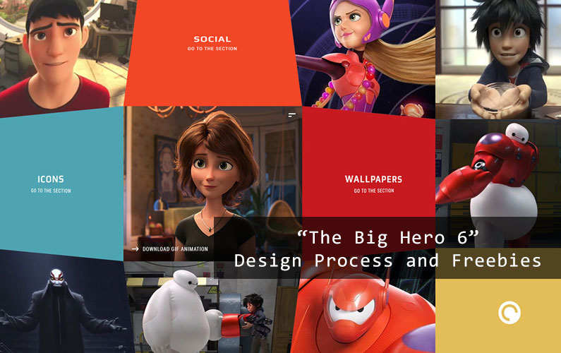 Web Design Process of The Big Hero 6 Gif – Official Freebies