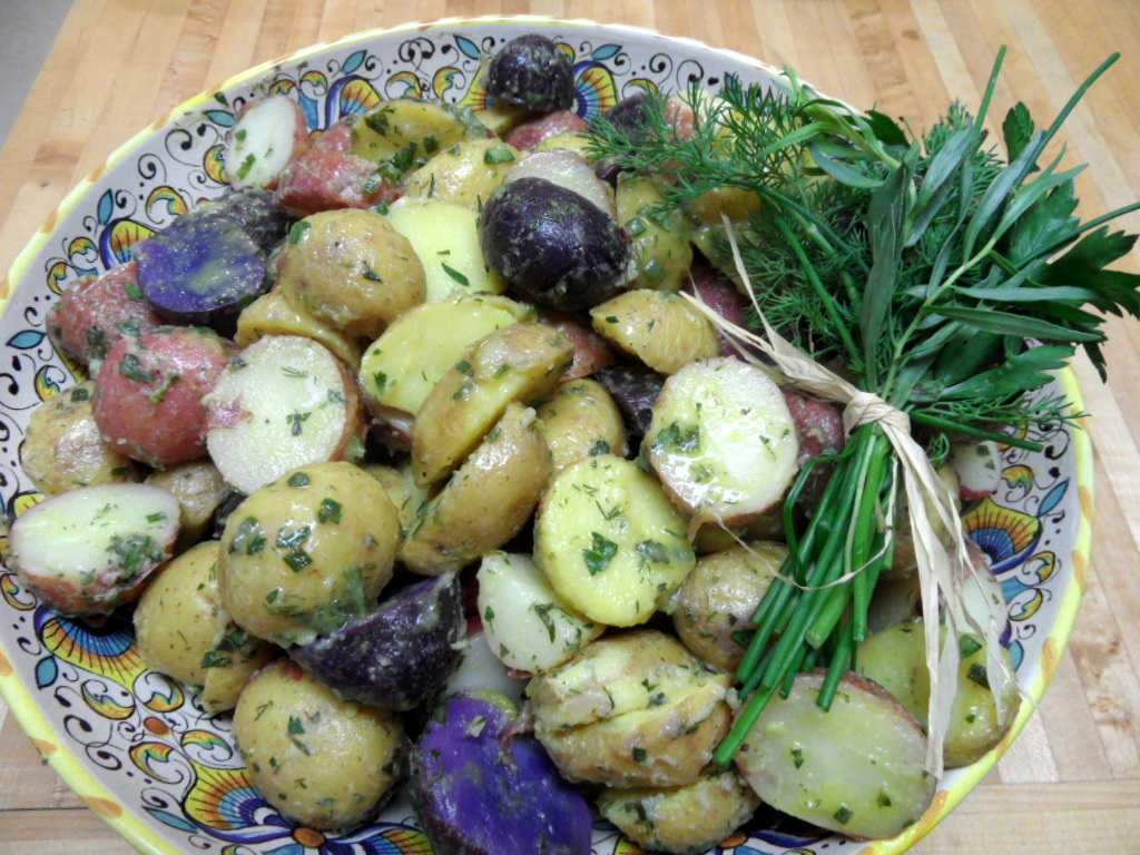 New Potato Salad with Tarragon, Dill, and Parsley with Champagne ...