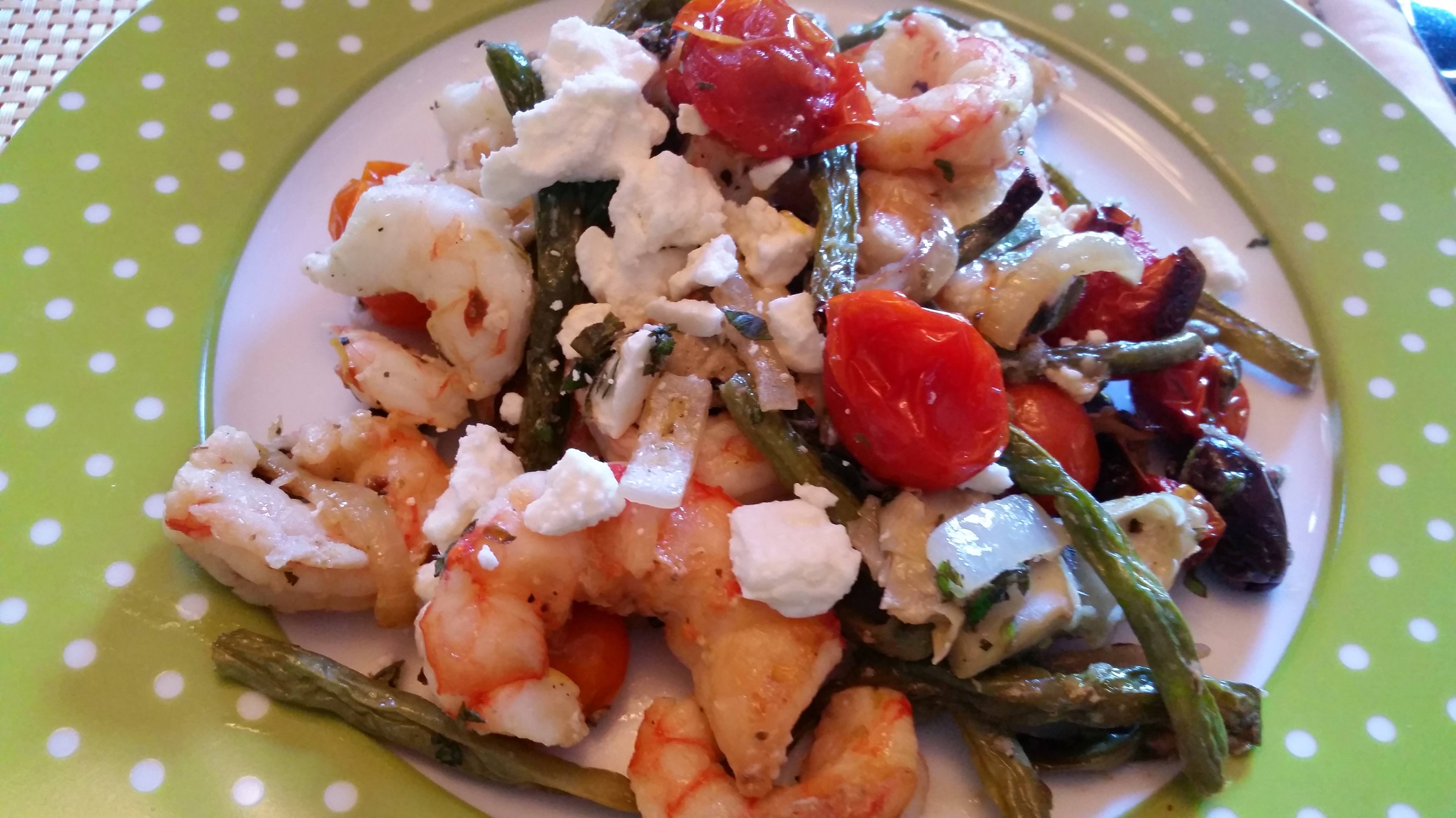 Roasted Mediterranean Shrimp with Artichokes, Green Beans ...