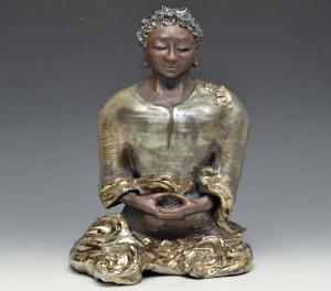 African Buddha Seated in Meditation