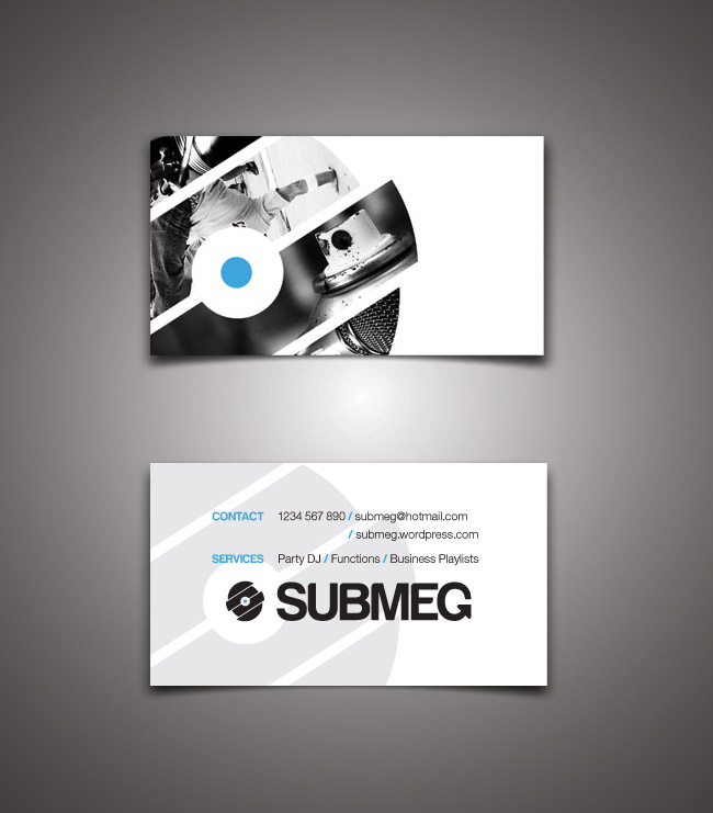 Logo  Business Card for DJ Submeg Ankhou Graphic Design