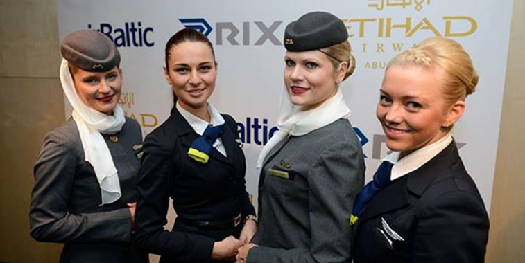 Air Baltic and Etihad Airways cabin crew C A B I N C R E W - flight attendant job description