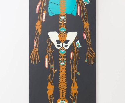 Knochen_in_der_Orthopädie_Ausstellung_Anna_Szermanski_Die_Familie_Orthopädie_Praxis_Dr._Bloch_Düsseldorf_Skelette_Farben_Polen_Folklore2