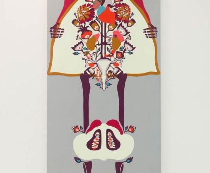 Knochen_in_der_Orthopädie_Ausstellung_Anna_Szermanski_Die_Familie_Orthopädie_Praxis_Dr._Bloch_Düsseldorf_Skelette_Farben_Polen_Folklore4