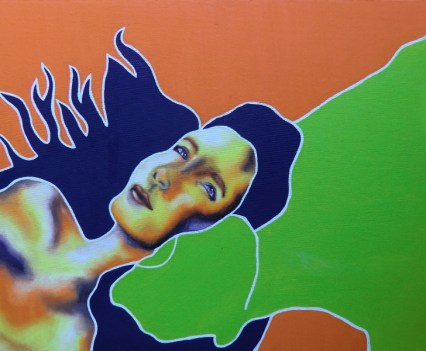 """Nude 9"", 2009 Öl auf Leinwand, 50x40 cm"