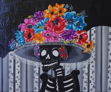 """""""Día de los Muertos"""", 2010 Öl auf Leinwand, 100x145 cm"""