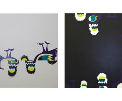 """""""Kury"""", 2011 Acryl auf Leinwand, je 140x140cm"""