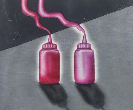 """""""Fragmente"""", 2010/2011 (Ausschnitt)Acryl und Öl auf Leinwand, 22x22cm"""